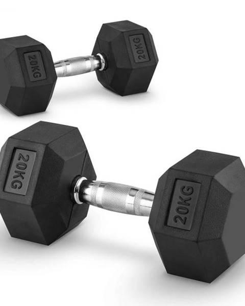 Capital Sports Capital Sports Hexbell 20 Dumbbell, pár jednoručných činiek, 20 kg