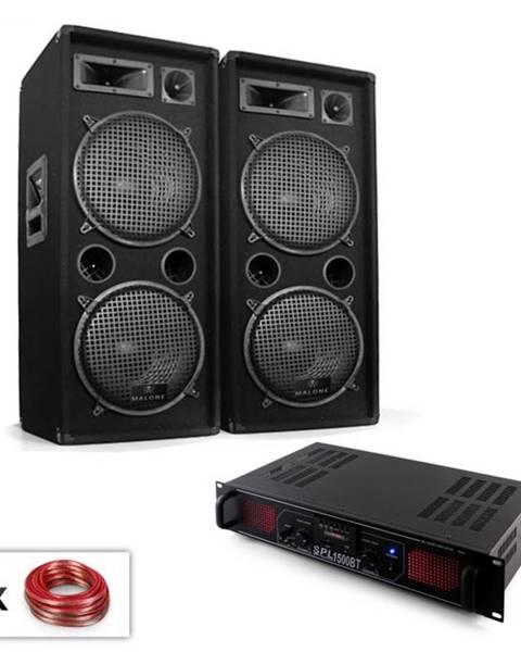 "Electronic-Star Electronic-Star PA Set ""Malone SPL Bluetooth MP3"" pár 2x12"" reproduktor & zosilňovač 1500W"