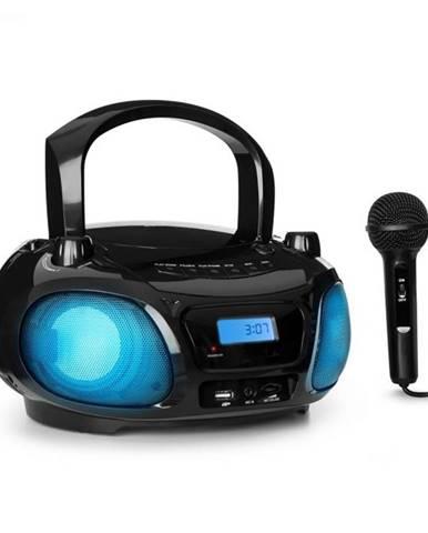 Auna Roadie Sing, CD boombox, FM rádio, svetelná šou, CD prehrávač, mikrofón, čierny