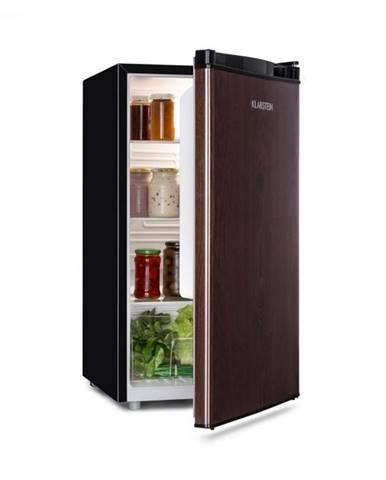 Klarstein Feldberg, chladnička, A+, 90 l, MirageCool Concept, drevený dizajn, čierna