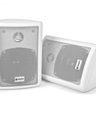 Skytec pár 2-pásmových stereo reproduktorov, biele, 75 W max., vrátane montážneho materiálu