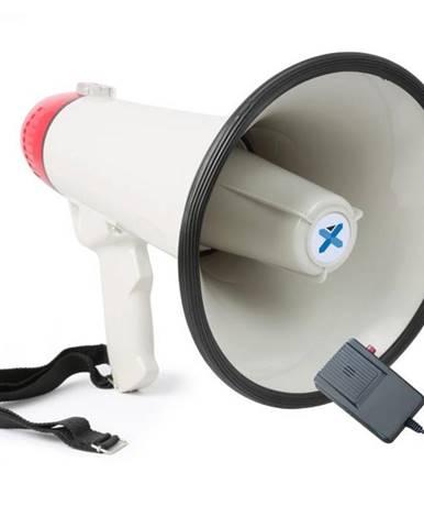Vexus MEG040, megafón, 40 W, siréna, mikrofón, prevádzka na batérie, popruh