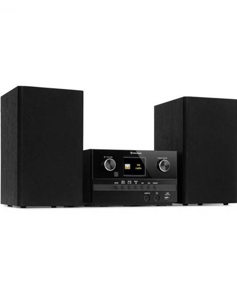 Auna Auna Connect System S, stereo systém + reproduktor, 20 W max., internet/DAB+, čierny