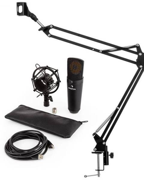 Auna Auna MIC-920B V3, čierna, mikrofónová sada, USB kondenzátorový mikrofón, rameno