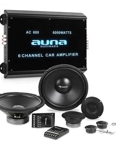 Auna CS Comp 12, HiFi zostava do auta, kompletná súprava reproduktorov/6-kanálový koncový zosilňovač
