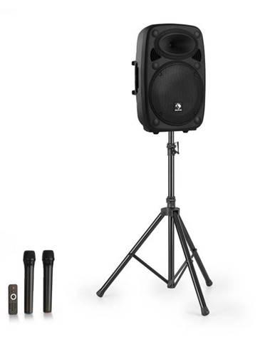 """Auna Streetstar 12, mobilný PA systém + statív, 12"""" woofer, UHF mikrofón, 800 W max., čierny"""