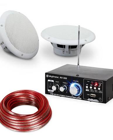 """Electronic-Star 4-dielna sada terasového a kúpeľňového zosilňovača s reproduktormi, 5"""", Speaker Sound Set 5"""" vodeodolné"""