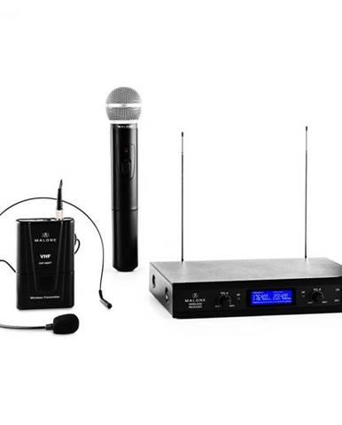Auna Pro VHF-400 Duo 3, 2-kanálová sada VHF bezdrôtových mikrofónov, 1 x headset mikrofón + 1 x ručný mikrofón