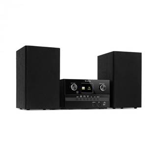 Auna Connect System S, stereo systém + reproduktor, 20 W max., internet/DAB+, čierny