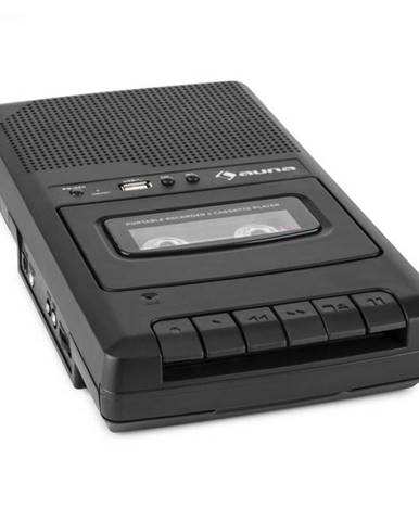 Auna RQ-132USB, kazetový magnetofón, diktafón, kazety, rekordér, mikro USB