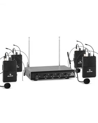 Auna Pro VHF-4-HS 4-kanálová VHF mikrofónová sada 4x headset 50m
