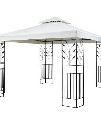 Blumfeldt Odeon Beige, záhradný pavilón, altán, 3 x 3 m, oceľ, polyester, svetlobéžový