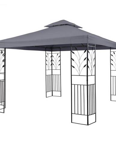 Blumfeldt Odeon Grey, záhradný pavilón, altán, 3 x 3 m, oceľ, polyester, tmavošedý