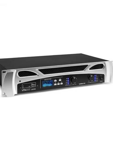 Vonyx FPA600, PA-zosilňovač, 2 x 300 W, BT funkcia, Mediaplayer, LED, USB, SD