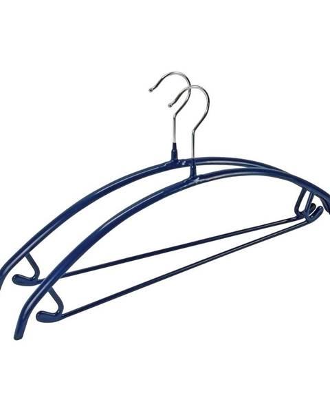 Wenko Sada 2 modrých protišmykových vešiakov na oblečenie Wenko Hanger Combi