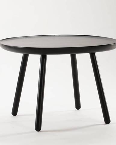 Čierny stolík z masívu EMKO Naïve, ø64cm