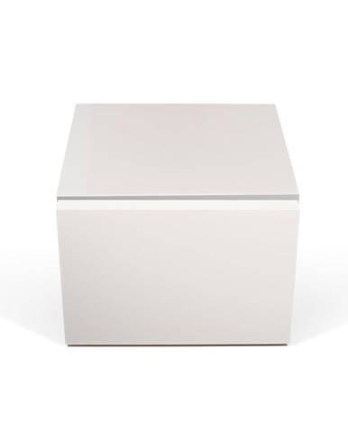 Biely nočný stolík TemaHome Float
