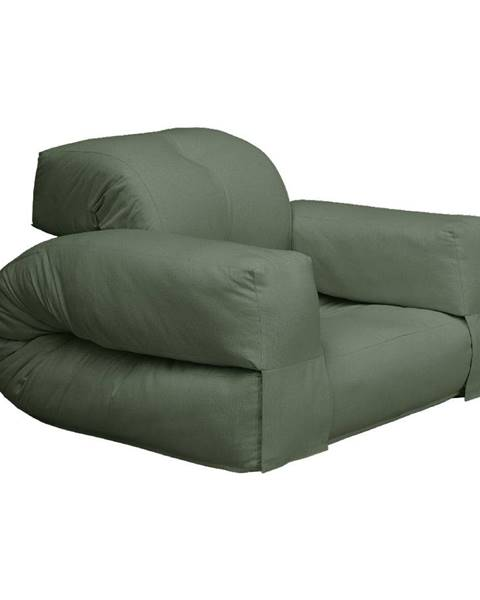 Karup Design Rozkladacie kreslo so zeleným poťahom Karup Design Hippo Olive Green