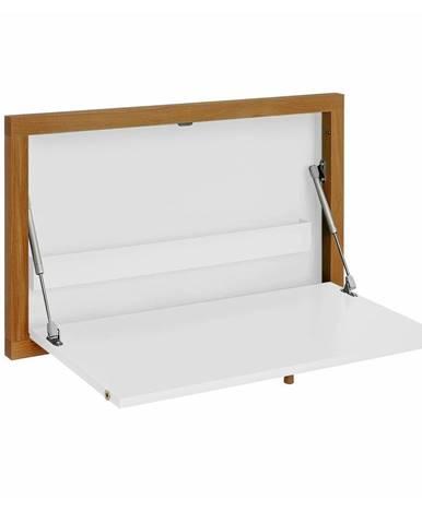 Biely nástenný vyklápací stôl Woodman Brenta