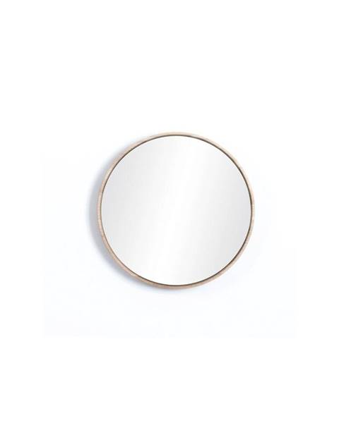 Gazzda Nástenné zrkadlo s rámom z masívneho dubového dreva Gazzda Look, ⌀22cm