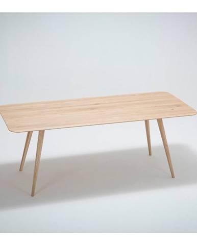 Jedálenský stôl z masívneho dubového dreva Gazzda Stafa, 200×90cm