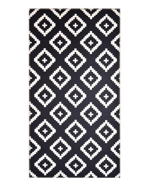 Vitaus Čierno-biely koberec Vitaus Geo Winston, 80x150cm