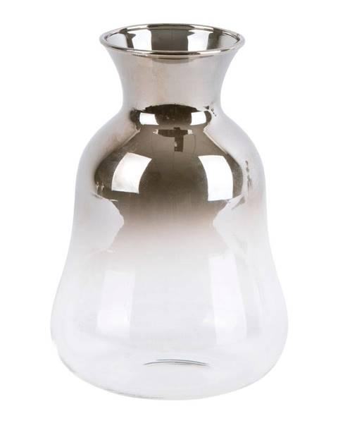 PT LIVING Sklenená malá váza PT LIVING Silver Fade, výška12cm