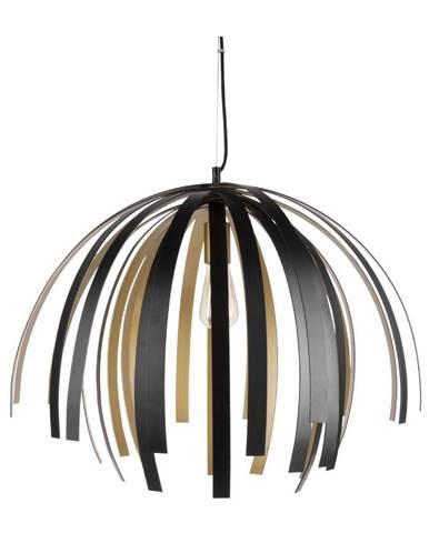 Stropné svietidlo v čierno-zlatej farbe Leitmotiv Willow Large