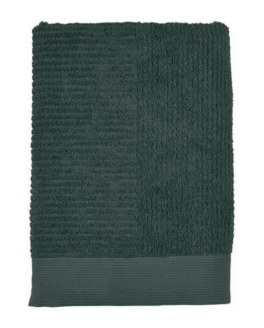 Tmavozelená osuška Zone Classic, 70x140cm