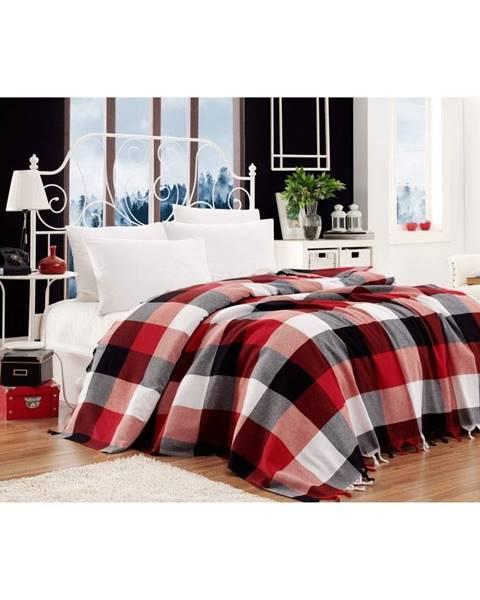 EnLora Home Bavlnený pléd pres postel na dvojlôžko Single Pique Kicho, 200×240 cm