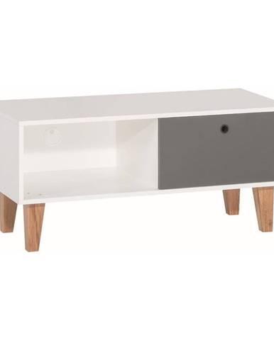 Bielo-sivý TV stolík Vox Concept