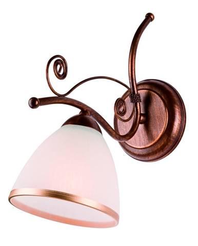 Bielo-hnedá nástenná lampa Lamkur Retro