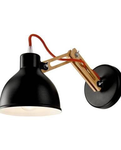 Čierna nástenná lampa Lamkur Marcello