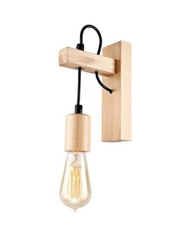Drevená nástenná lampa Lamkur Leon