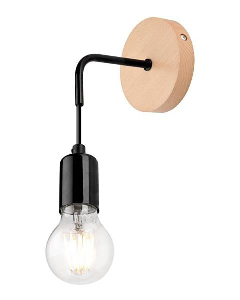 LAMKUR Čierna nástenná lampa Lamkur Orazio
