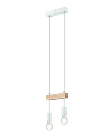 Biele závesné svietidlo pre 2 žiarovky Lamkur Orazio