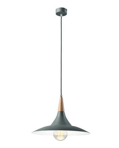 Sivé závesné svietidlo Lamkur Umbrella