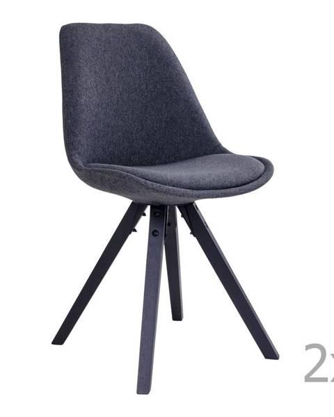House Nordic Súprava 2 sivých jedálenských stoličiek HoNordic Bergen