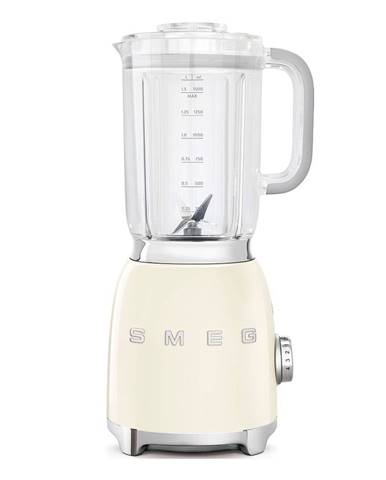 Krémovo-biely stolový mixér SMEG