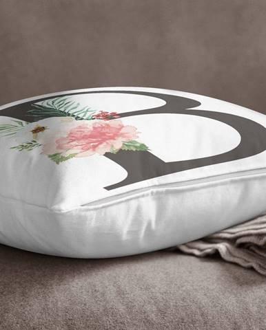 Obliečka na vankúš Minimalist Cushion Covers Floral Alphabet B, 45 x 45 cm