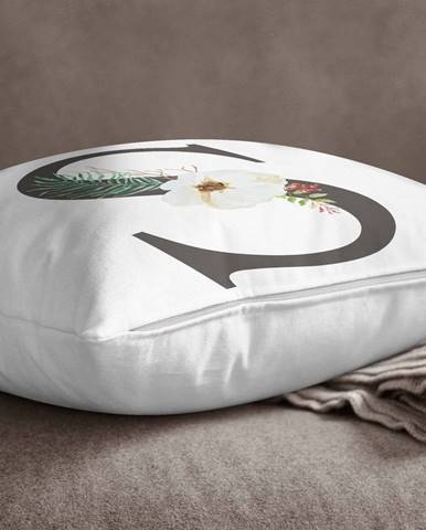 Obliečka na vankúš Minimalist Cushion Covers Floral Alphabet S, 45 x 45 cm