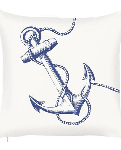 Obliečka na vankúš Mike & Co. NEW YORK Sailors Anchor, 43 × 43 cm