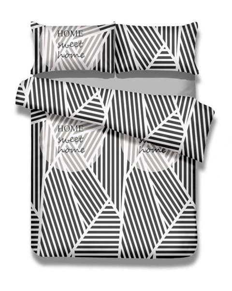 AmeliaHome Súprava bavlnenej obliečky na perinu a obliečky na vankúš AmeliaHome Averi Sweet Home Light, 135×200 cm + 80×80 cm