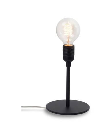 Čierna stolová lampa Bulb Attack Uno Basic