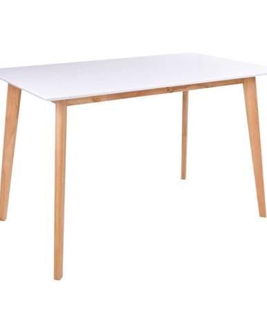 Jedálenský stôl s bielou doskou loomi.design Vojens, 120 x 70 cm