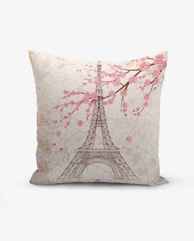 Obliečka na vaknúš s prímesou bavlny Minimalist Cushion Covers Eiffel, 45 × 45 cm