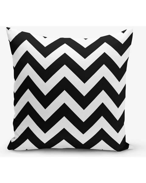 Minimalist Cushion Covers Čierno-biela obliečka na vankúš Minimalist Cushion Covers Stripes, 45×45 cm