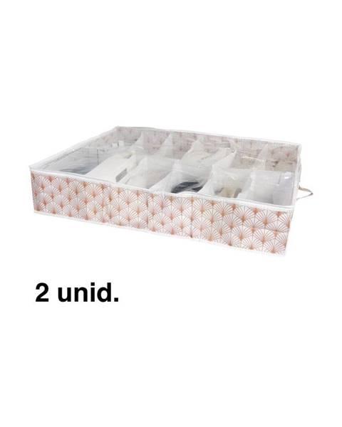 Compactor Organizér na topánky pod posteľ Compactor Blush Range, 76 x 60 cm