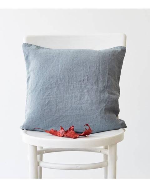 Linen Tales Svetlomodrá ľanová obliečka na vankúš Linen Tales, 45 x 45 cm