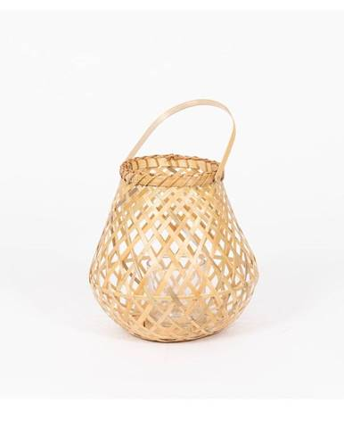 Bambusový lampáš Compactor Bamboo Lantern, ⌀ 25 cm